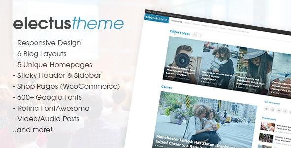 Electus - News/Blog HTML Template - Entertainment Site Templates