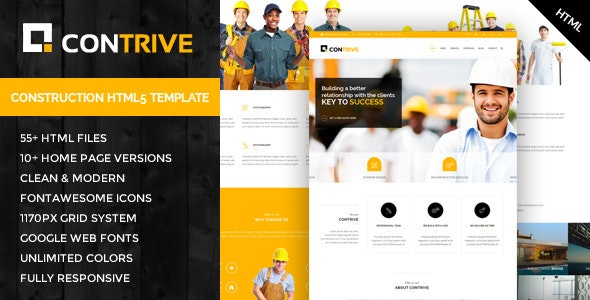 Contrive - Building & Construction HTML5 Template - Business Corporate