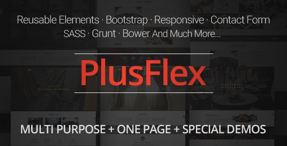 PlusFlex - Multi Purpose | One Page Template - Site Templates