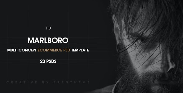 Marlboro - Ecommerce PSD Template - Retail Photoshop