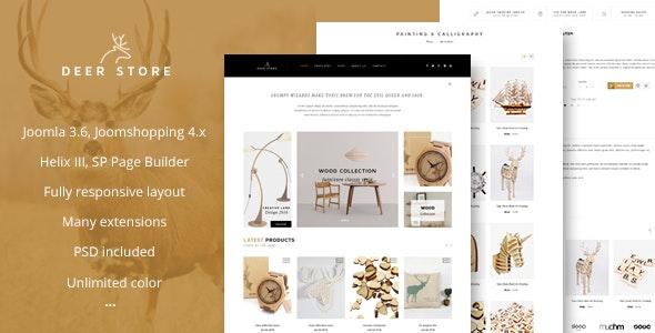 DeerStore - eCommerce Joomla Template - Retail Joomla