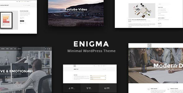 Enigma - Minimal Multi-Purpose WordPress Theme