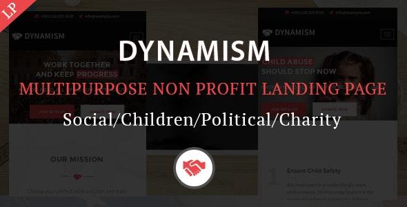 Dynamism Multipurpose Nonprofit Landing Page Template - Activism Nonprofit