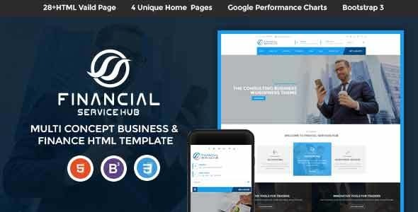 Financial Services Hub Business Corporate HTML Theme - Business Corporate