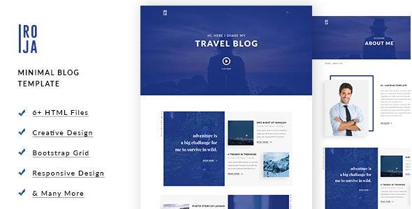 ROJA - Minimal HTML5 Blog Template - Personal Site Templates