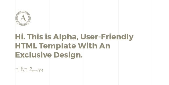 ALPHA | Versatile Coming Soon Template - Under Construction Specialty Pages