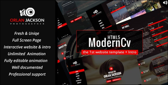 HTML5 Modern Cv - Personal Site Templates