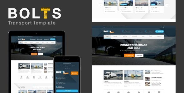 Bolts Transport - Transport/freight Business Template - Business Corporate