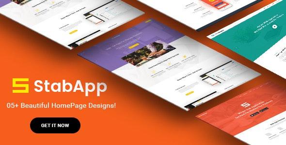 StabApp - App Landing Page -  PSD Template - Creative PSD Templates