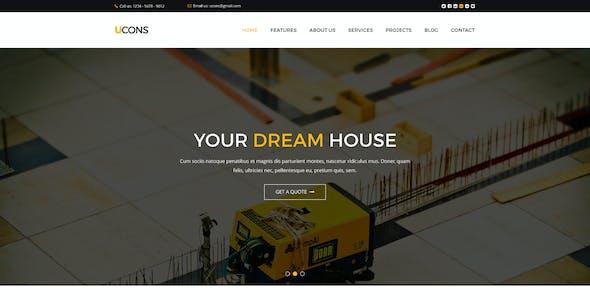 UCONS Multi Concept Construction PSD Template
