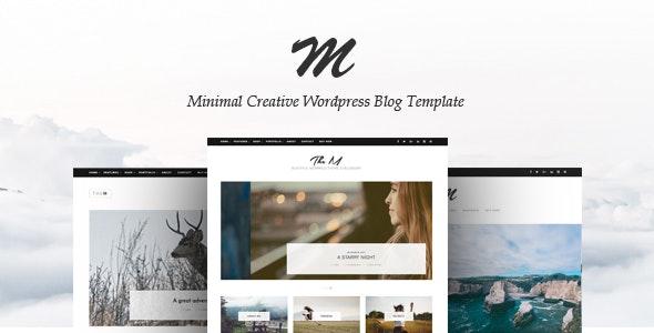 TheM - Minimal Creative WordPress Blog Theme - Personal Blog / Magazine