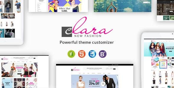 Clara - Minimalist Fashion Responsive Shopify Theme - Fashion Shopify