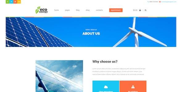 Eco Energy - Ecology & Alternative Energy Company PSD Template