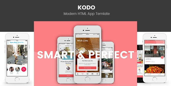 Kodo - Business App Template - Technology Site Templates