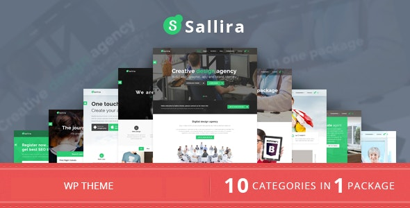 Sallira - Multipurpose Startup Business WordPress Theme - Marketing Corporate
