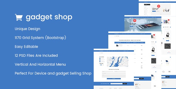 GadgetShop - eCommerce Gadget Shop PSD Template - Retail Photoshop