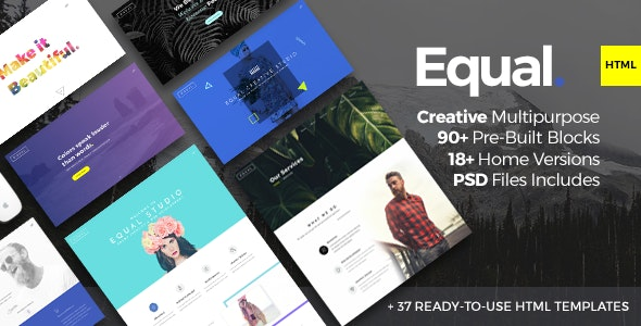 Equal Two - Creative Multi-purpose HTML5 Template - Creative Site Templates