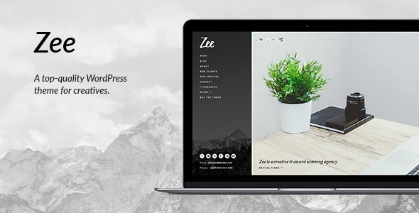 Zee: A Modern and Sophisticated WordPress Theme - Portfolio Creative