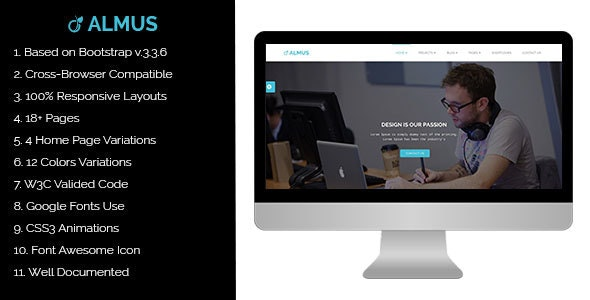 Almus - Creative Portfolio Template - Portfolio Creative