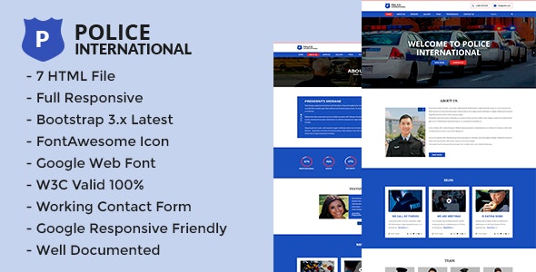 Police - HTML5 Multi Page Security Agency Template. - Corporate Site Templates