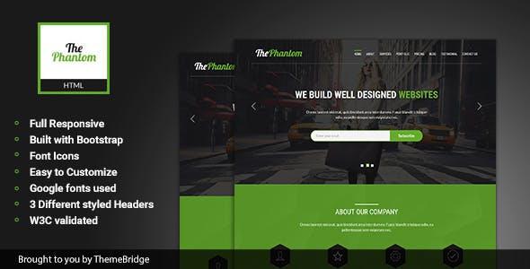 ThePhantom – Multipurpose Landing Page Template