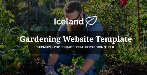 Iceland - Garden, Landscape Responsive Site Template - Business Corporate