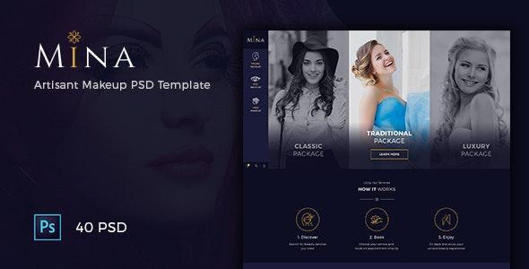 Mina - Beauty Salon Makeup PSD Template - Health & Beauty Retail