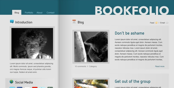BookFolio - Blog / Personal site - Portfolio Creative