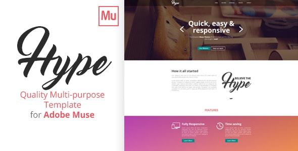 Hype | A Multi-Purpose Adobe Muse Template - Creative Muse Templates