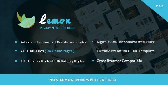 Lemon - Spa and Beauty Responsive HTML5 Template