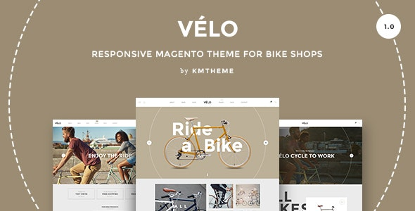 Velo – Responsive Magento Theme for Bike Shops - Shopping Magento