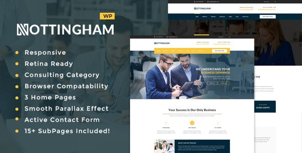 Nottingham: Business Consultancy WordPress Theme - Business Corporate