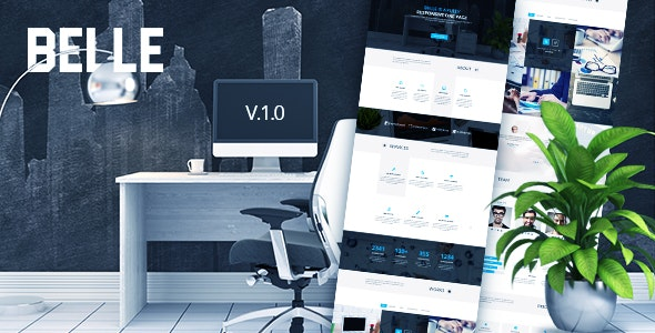 Belle - Simple One Page PSD Template - Corporate PSD Templates