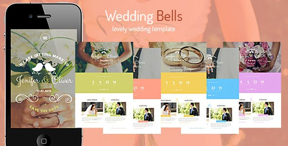 Wedding Bells - Responsive Wedding Template by SmartTemplates
