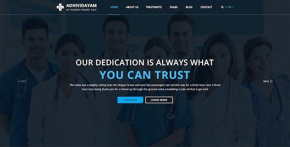 ADHIVIDAYAM - An Intuitive Health care PSD Template