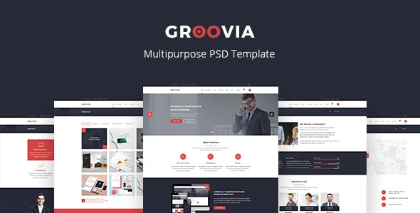 Groovia - Multipurpose PSD Template - Corporate Photoshop
