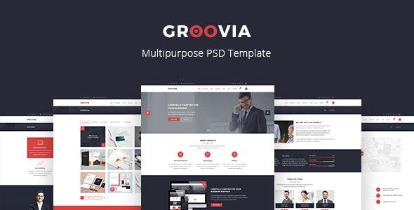 Groovia - Multipurpose PSD Template - Corporate PSD Templates