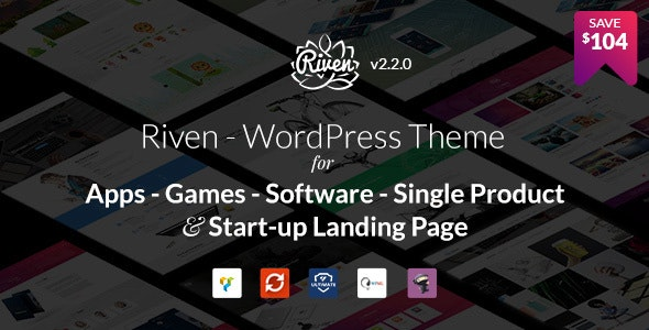 Riven - WordPress Theme for App, Game, Single Product Landing Page - Software Technology