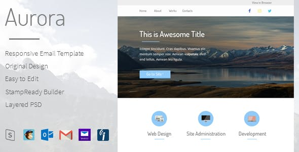 Aurora - Responsive Email Template