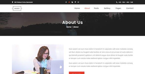 BLOGY - Blog Post PSD Template