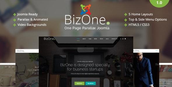 BizOne - One Page Parallax Joomla Template - Corporate Joomla