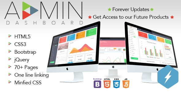 CSK Admin | Attractive & Responsive Admin Dashboard - with Single Line Linking & Options - Admin Templates Site Templates