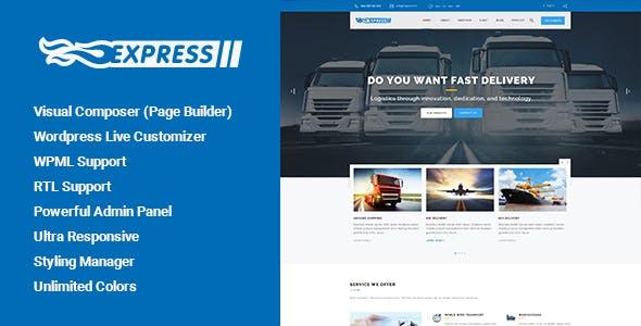 Thể hiện - vận tải và Logistics WordPress Theme