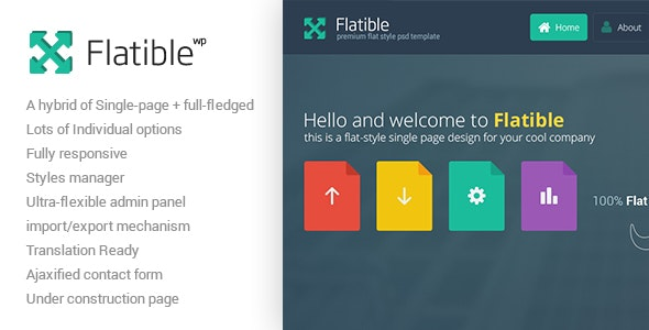 Flatible - Single Page WordPress Theme - Portfolio Creative