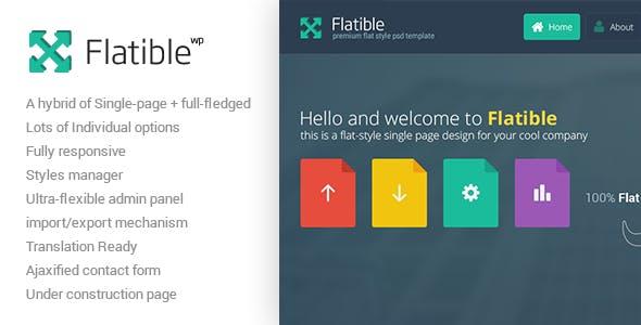 Flatible - Single Page WordPress Theme
