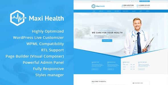 Maxi Health - Responsive Medical WordPress Theme - Health & Beauty Retail
