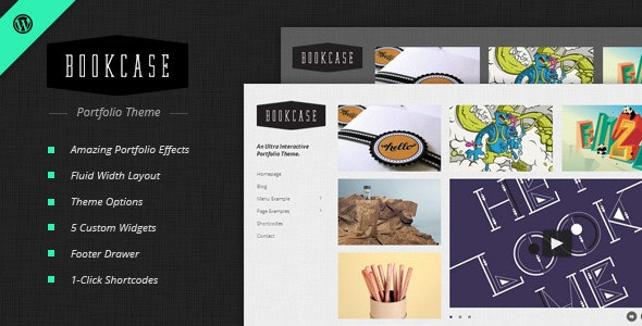 Bookcase - Wordpress Portfolio Theme - Portfolio Creative