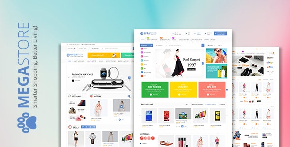 Megastore Multi-Purpose Ecommerce HTML Template - Retail Site Templates