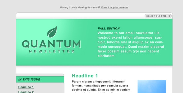 Quantum Email Newsletter - Newsletters Email Templates
