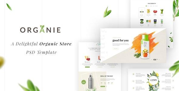 Organie - A Delightful Organic Store PSD Template - Food Retail
